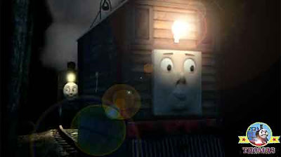 Toby the train tram wished wisely told Bash lets rattled along the trainline old Misty Island tunnel