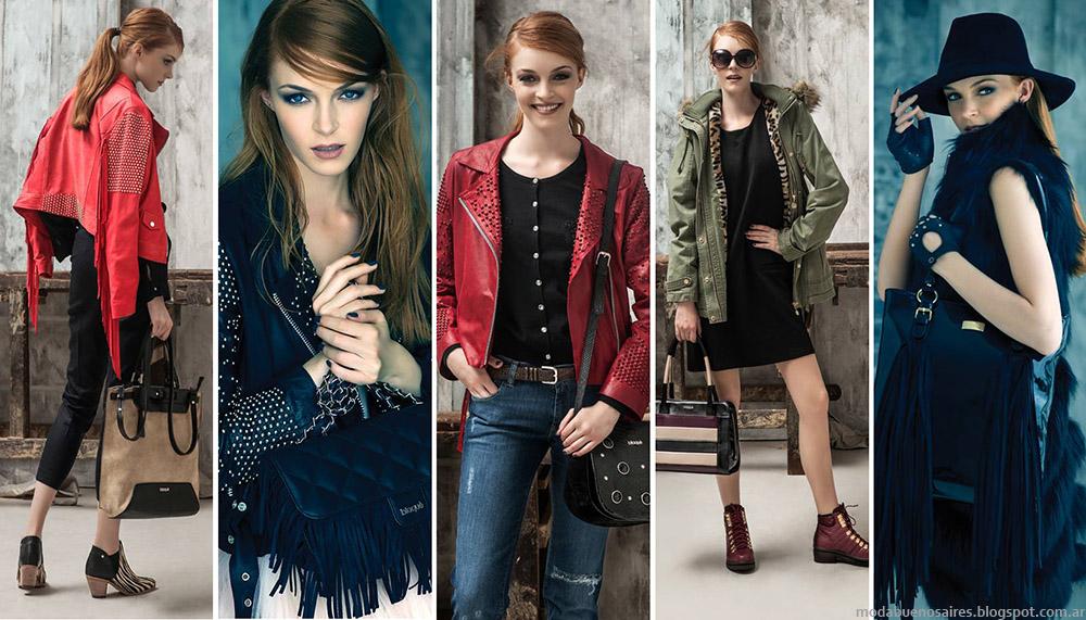 Moda invierno 2015 Blaqué carteras, bolsos, zapatos, botas y abrigos  invierno 2015.