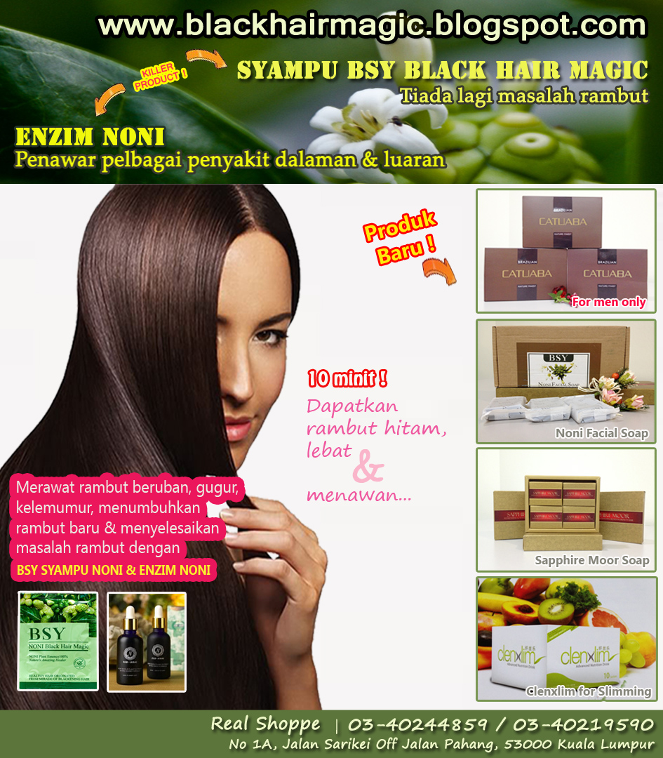 ORIGINAL SYAMPU BSY BLACK HAIR MAGIC