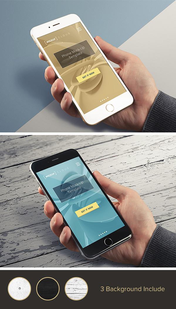 Smartphone & Tablet Mockup PSD Terbaru Gratis - Real Photo iPhone Mockup