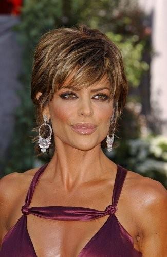 Lisa Rinna Hairstyle Trends: Lisa Rinna Short Messy Shag Hairstyle