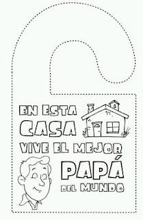 Dibujos del Dia del Padre para Pintar, parte 1
