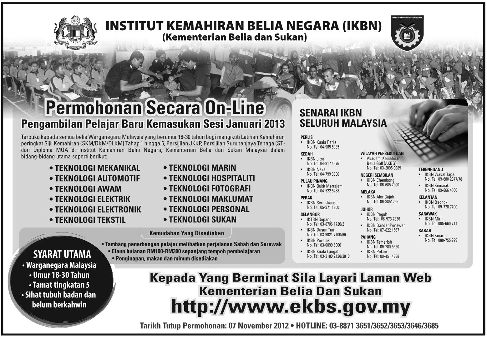 Permohonan Online IKBN 2013
