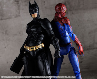 "Medicom Mafex 6"" Dark Knight Rises Batman & Amazing Spider-Man Figures"