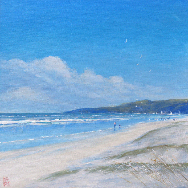 Paintings Of Dog Walkers On A Beach