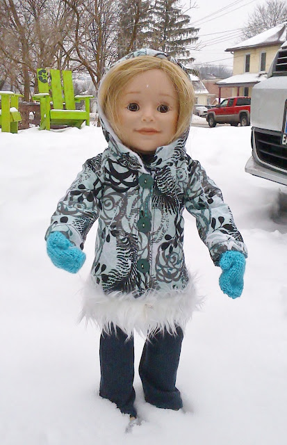 Winter Coat 18 inch doll pattern