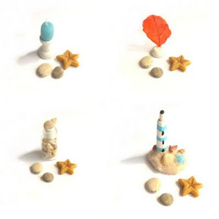 Sea items in miniature for dollhouse
