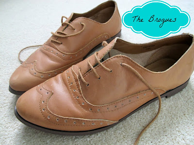 A picture of Topshop Tan Brogues