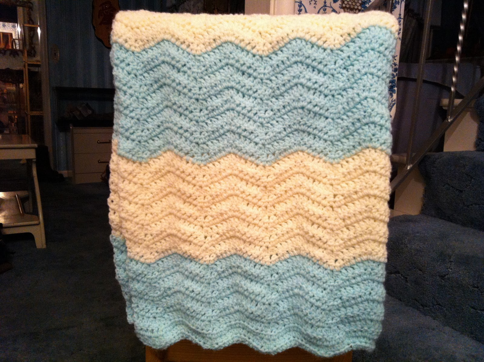 Design Adventures: Chevron Baby Blanket (and a headache)