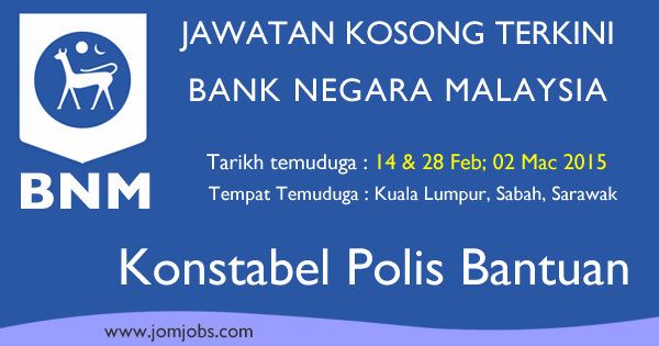 Temuduga Terbuka Bank Negara Malaysia (BNM) 2015