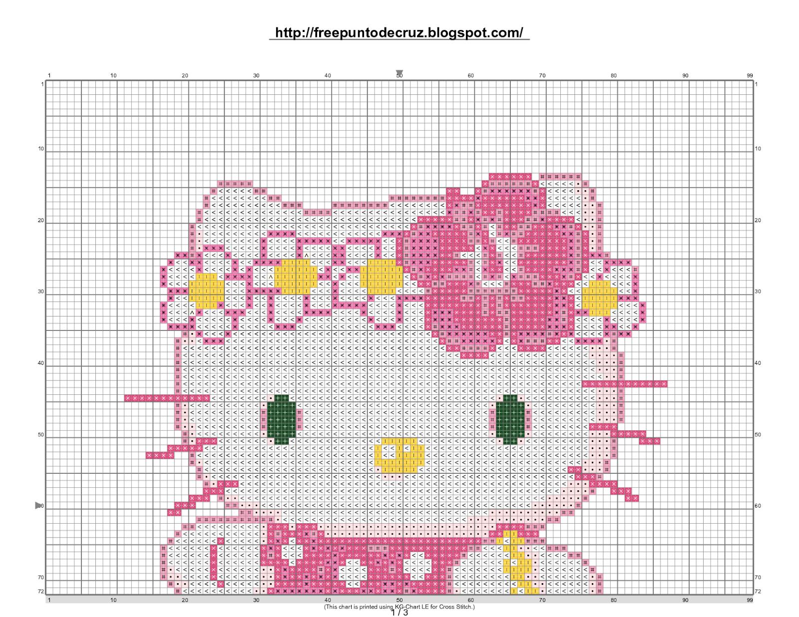 Dibujos Punto de Cruz Gratis: Hello Kitty