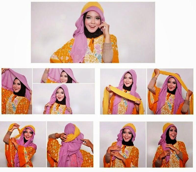 Cara Memakai Jilbab Paris Dengan Kaos Yang Efektif