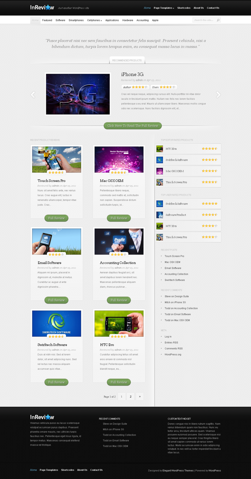 InReview WordPress Theme Free Download by ThemeForest.