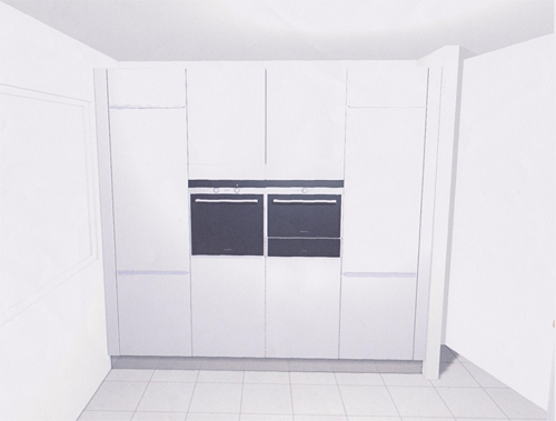 Kastenwand Keuken Ikea : Tegenover het aanrecht komt er een hoge kastenwand. We hebben geen