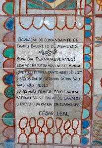 Detalhe do painel da batalha dos Guararapes