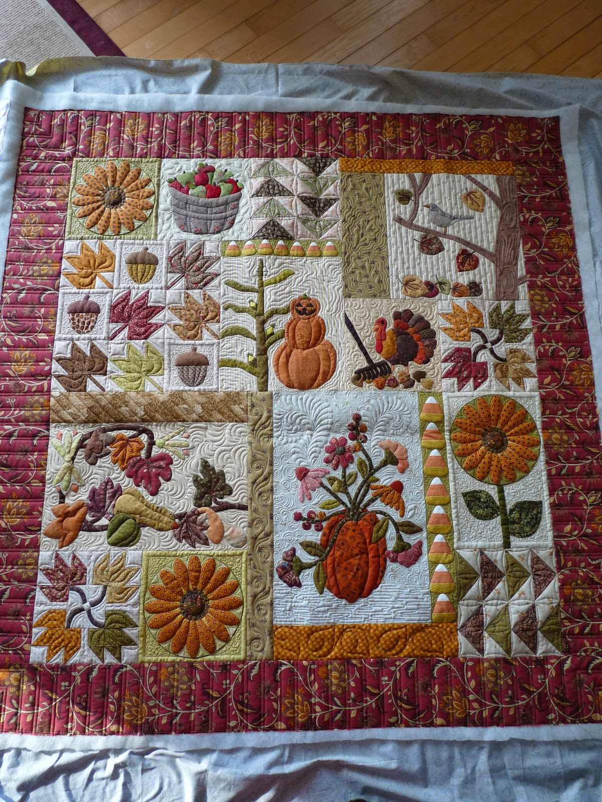 Autumn Patchwork On Pinterest Fall Quilts Halloween
