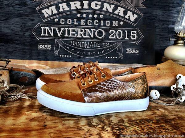 Zapatos y zapatillas otoño invierno 2015 Marignan.