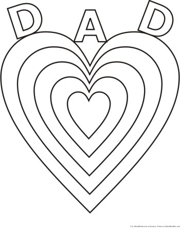I Love You Dad Fathers Day Coloring