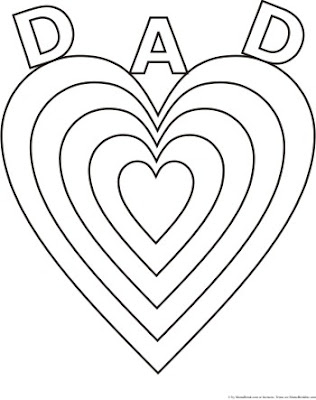 Heart I Love Dad Coloring Pages