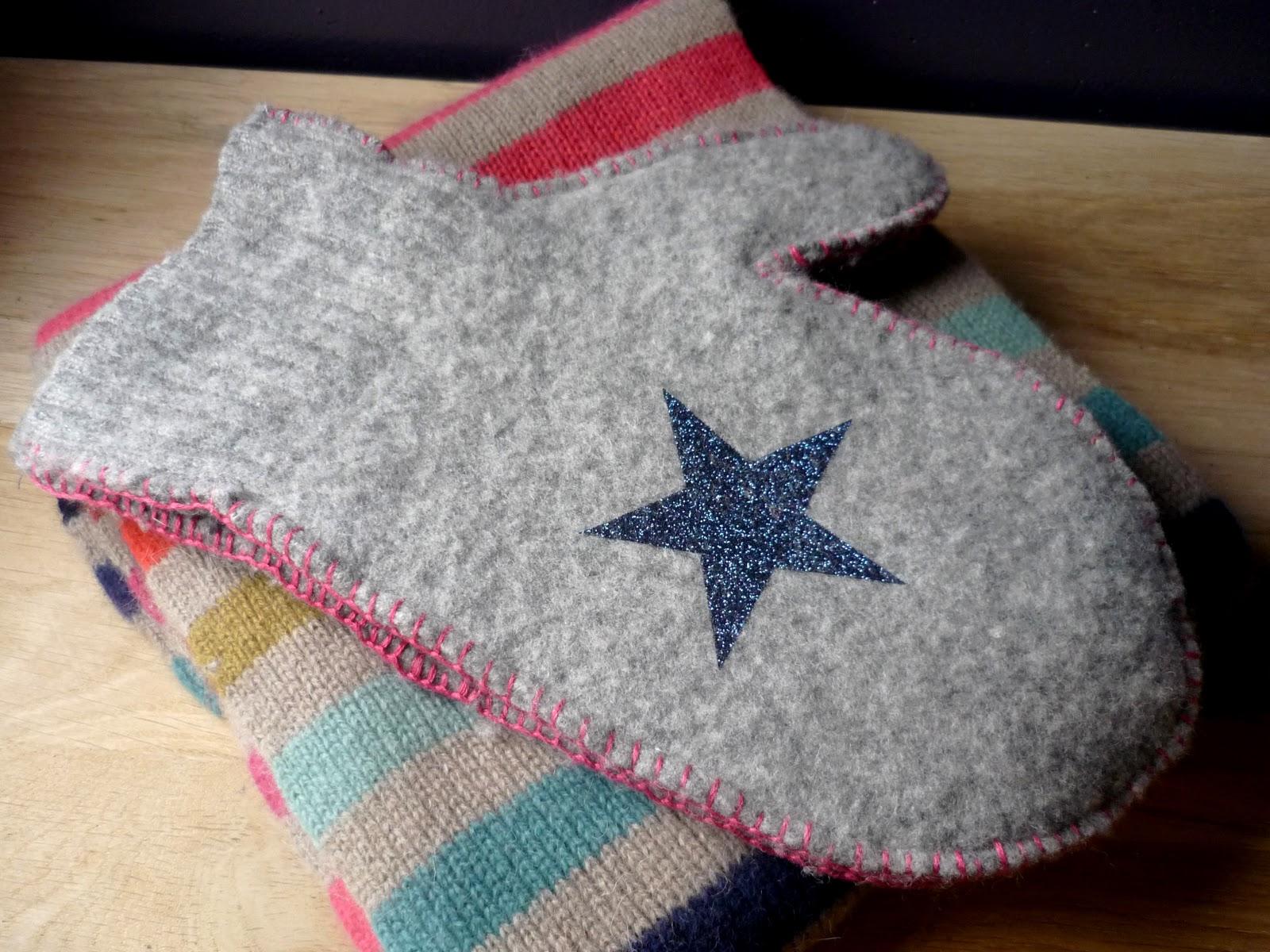 douceurs et couleurs des moufles en laine feutr e. Black Bedroom Furniture Sets. Home Design Ideas