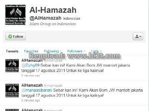 Pemilik Akun Al-Hamazah Teroris Bom Twitter