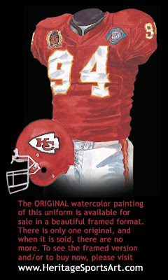 Kansas City Chiefs 1994 uniform
