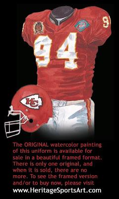 Kansas City Chiefs 1994 uniform