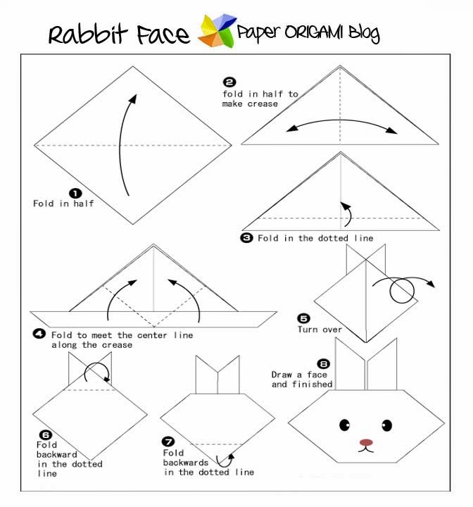 Origami Animal Instructions Rabbit