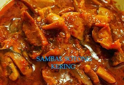 Resepi, SAMBAL SOTONG KERING.