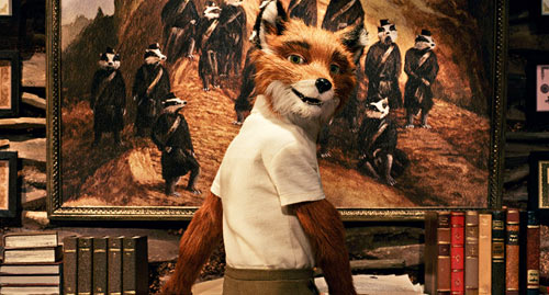 Mr. Fox turning around in front of his desk in The Fantastic Mr. Fox animatedfilmreviews.blogspot.com