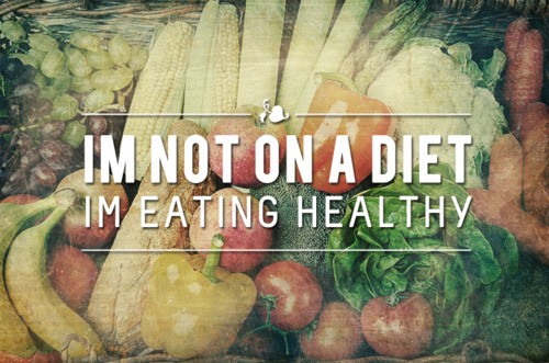 That's right! it's not a diet, you are just eating healthy! it's a new