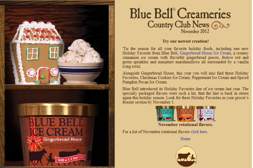 food and ice cream recipes NEWS Blue Bell To Release Their
