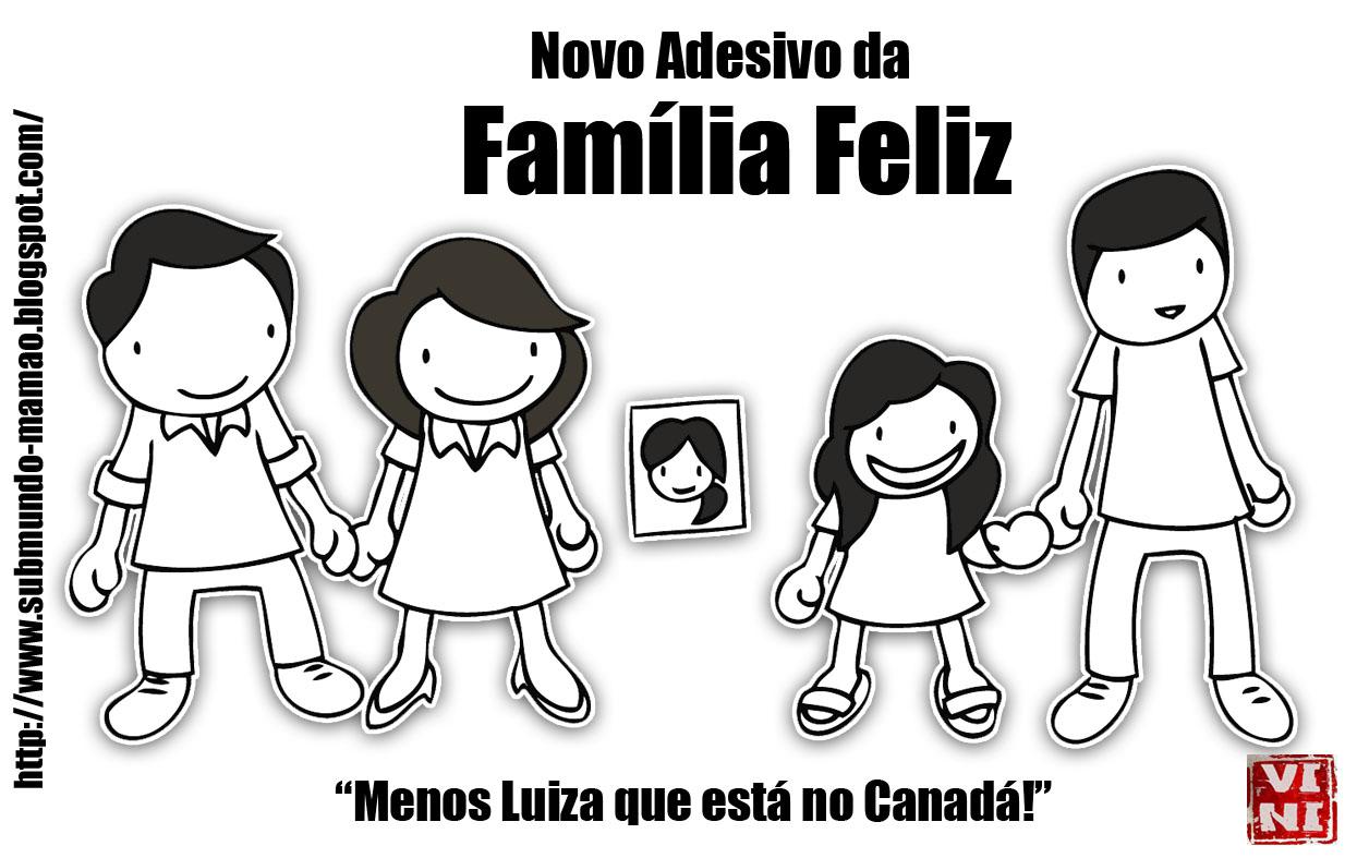 Artesanato Brasileiro Nos Estados Unidos ~ Submundo Mam u00e3o Novo Adesivo da Família Feliz!