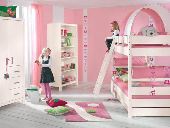 Kids bedroom color ideas for boys and girls ayanahouse for Children bedroom designs girls