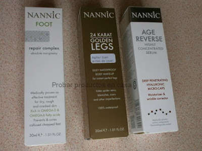 Nannic: reparador de pies, golden legs y Suero hialurónico