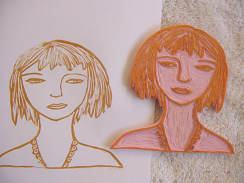 Alma stoller carve your own rubber stamp tutorial