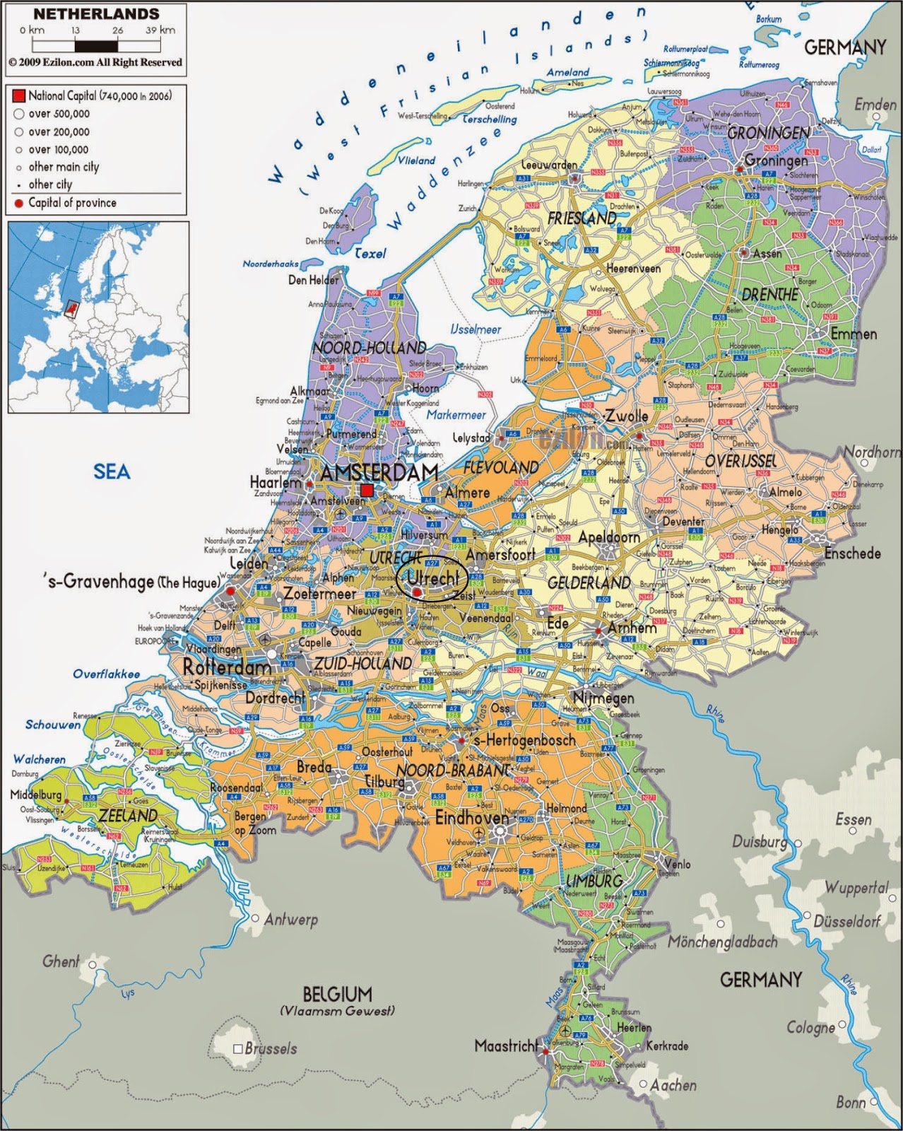 Utrecht Netherlands  city photo : Mapa da localização de Utrecht Holanda