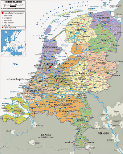 Utrecht location map - Netherlands