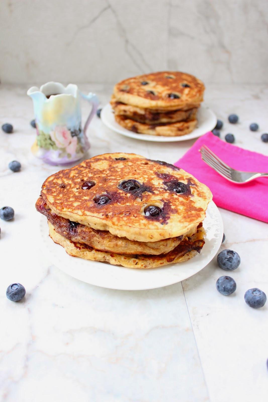 Stew or a Story: Blueberry Multi-Grain Yogurt Pancakes