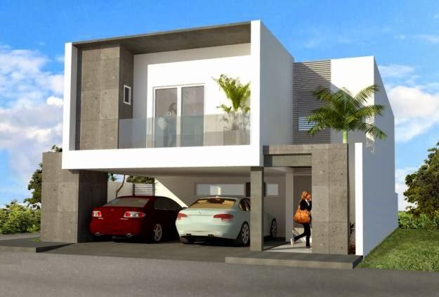 fachadas de casas modernas febrero 2014