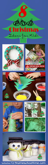 Fun Christmas Activities for Kids featured on TGIF linky Party by 123 Homeschool 4 Me