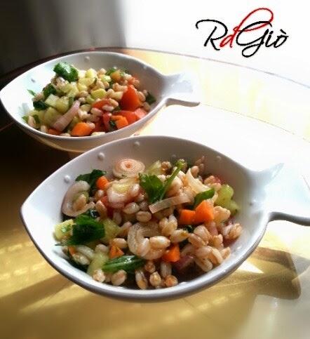 insalatina di farro con verdurine croccanti