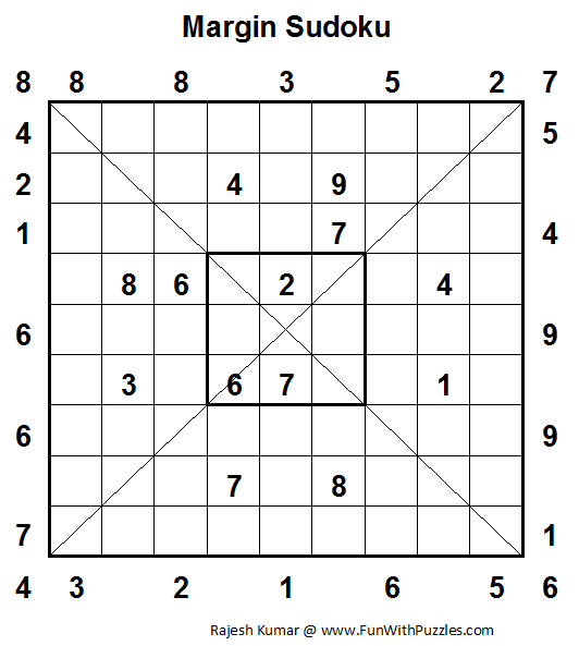 Margin Sudoku  (Fun With Sudoku #26)