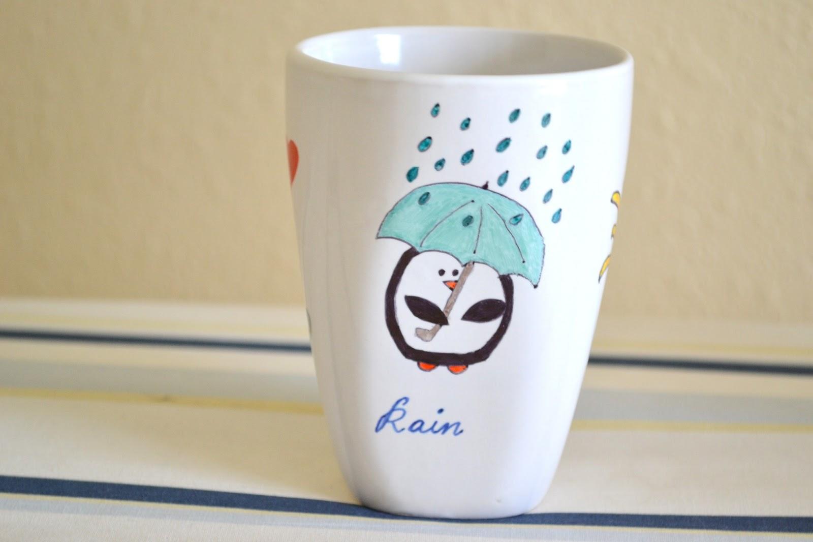 I Love Coffee Mug Gift Funny Painted Cup