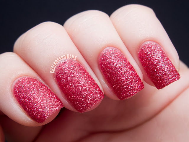 Chalkboard Nails: Zoya Miranda (PixieDust textured shade)