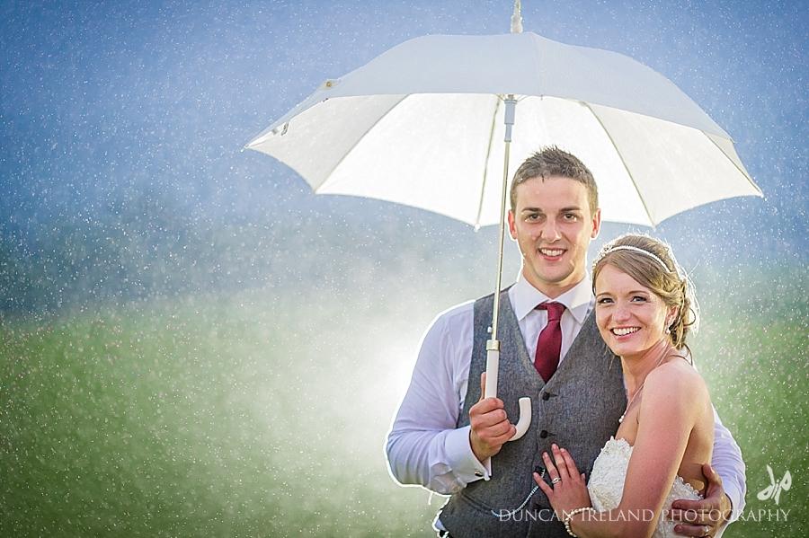 rainy wedding photographs