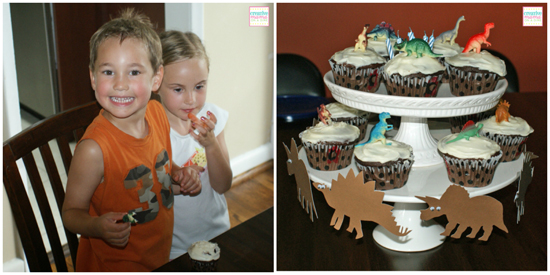 Dino-mite birthday cake