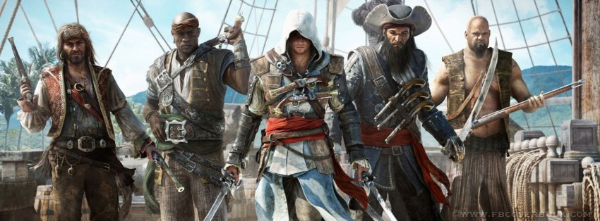 Assassins Creed iv Black Flag Facebook Timeline Cover