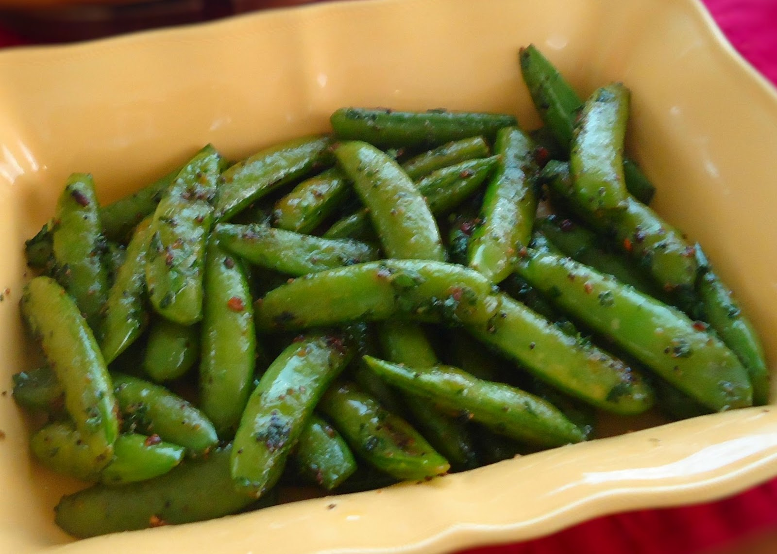 Sugar Snap Peas with Lemon Zest and Fresh Mint