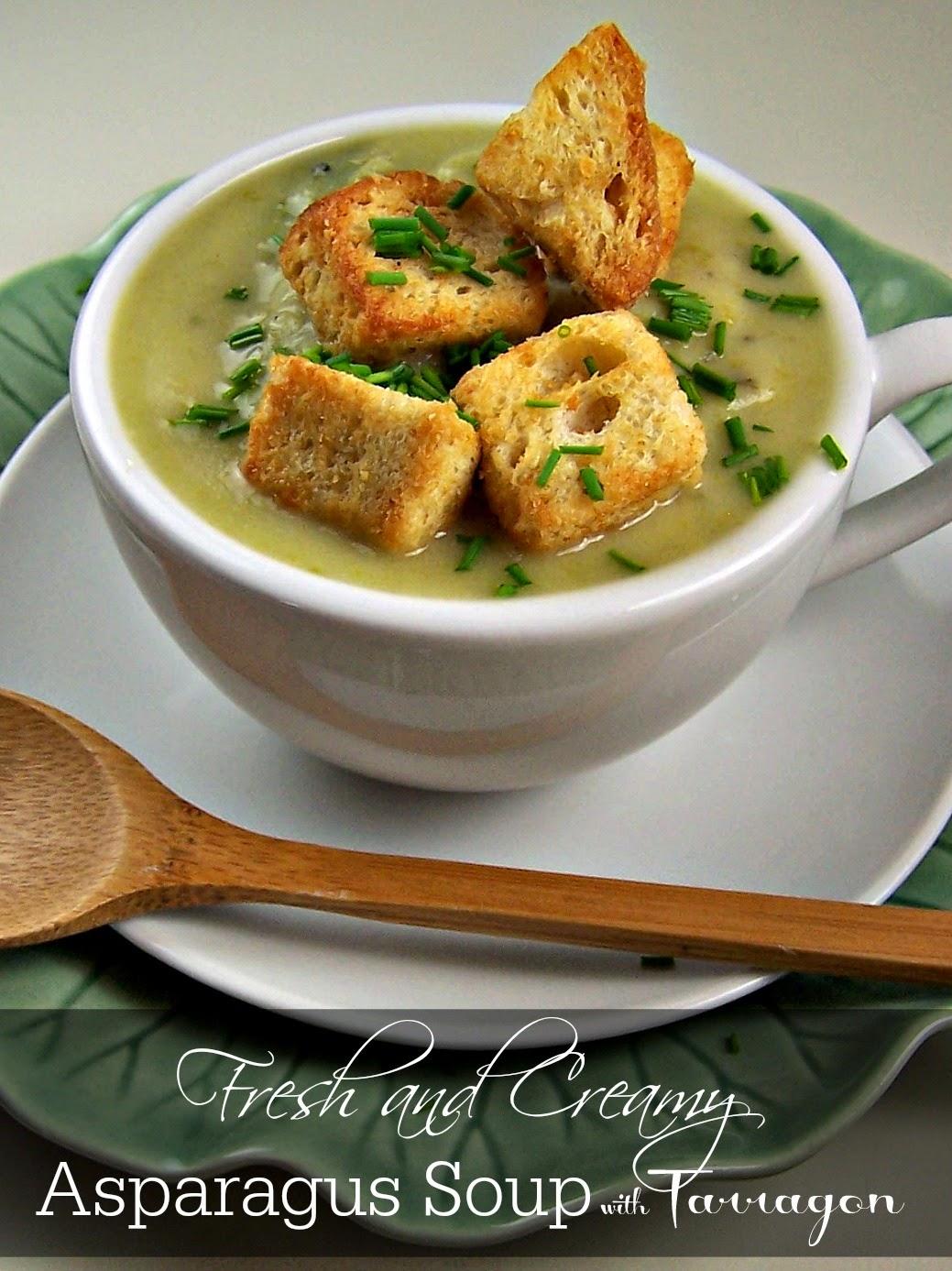 Olla-Podrida: Fresh and Creamy Asparagus Soup with Tarragon
